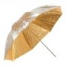 Parasolka srebrno-złota 102cm dwustronna