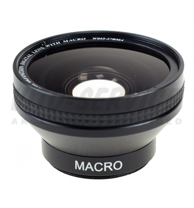 Konwerter szerokokątny 0,45x 37mm + macro